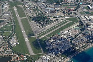 Cannes – Mandelieu Airport - Aerial view of the airport in 2015