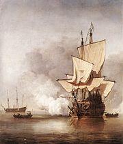 Cannon shot by Velde