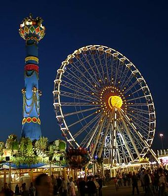 The Cannstatter Volksfest in the district of 'Bad Cannstatt' Cannstatter-fruchtsaeule-2004.jpg