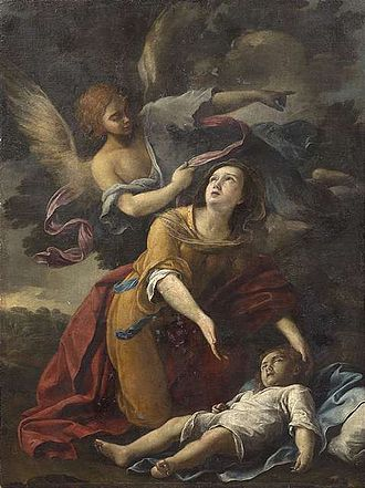 Domenico Maria Canuti - Hagar and the angel