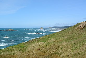 Cape Blanco (Oregon) - Image: Cape Blanco looking north