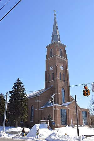 Carrolltown, Pennsylvania - St. Benedict's Church on Main Street