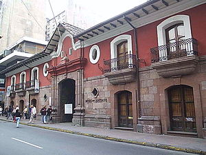 Patria Vieja - La Casa Colorada, residence of Governor Mateo de Toro y Zambrano (Currently the Museo de Santiago)