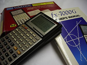Graphing calculator - Casio fx-7000G; The world's first graphing calculator