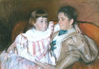 Louisine Havemeyer - Louisine Havemeyer and her Daughter Electra, 1895 pastel on paper by Mary Cassatt. Collection of Shelburne Museum
