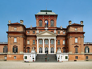 Castle of Racconigi - The northern façade of the castle.