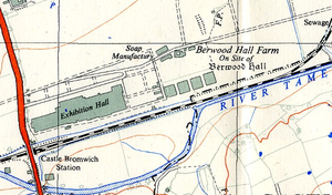 British Industries Fair - The exhibition hall and railway station, seen on a contemporary Ordnance Survey 1st edition 1:25 map
