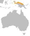 Casuarius unappendiculatus distribution map.png