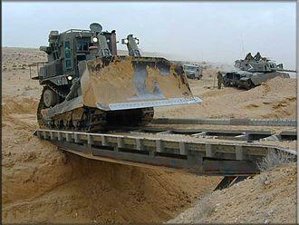 IDF Caterpillar D9 - IDF D9N during training