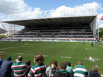 Welford Road Stadium - Image: Caterpillar Stand at Welford Road geograph.org.uk 1863248