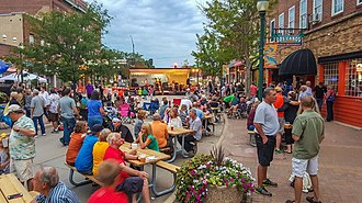 Cedar Falls, Iowa - Downtown Cedar Falls, August 2017