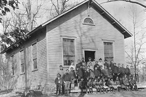 Cedar Grove, Mercer County, New Jersey - A 1904 class photo of the Cedar Grove School