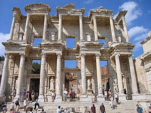 Anastylosis - Celsus Library in Ephesus (Turkey), anastylosis carried out 1970–1978