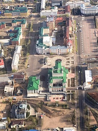 Ulan-Ude - Center of Ulan-Ude from a bird's eye view