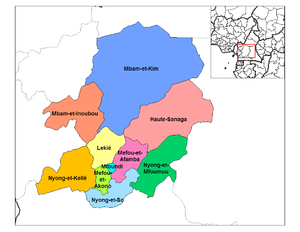 Departments of Cameroon - Divisions of Centre province