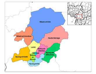 Centre Region (Cameroon) - Departments of Centre