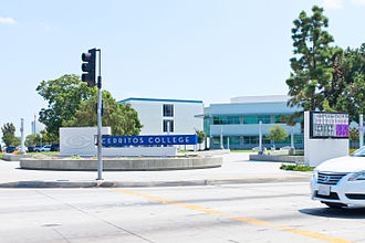 Cerritos College - Entrance to Cerritos College.