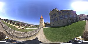 Avenches Castle - Panorama near to the Chateau d'Avenches