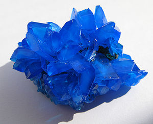 Salt (chemistry) - The salt copper(II) sulfate as the mineral chalcanthite
