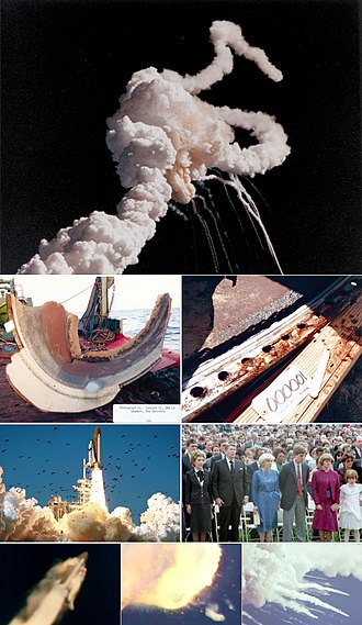 Space Shuttle Challenger disaster - Image: Challenger Photo Montage