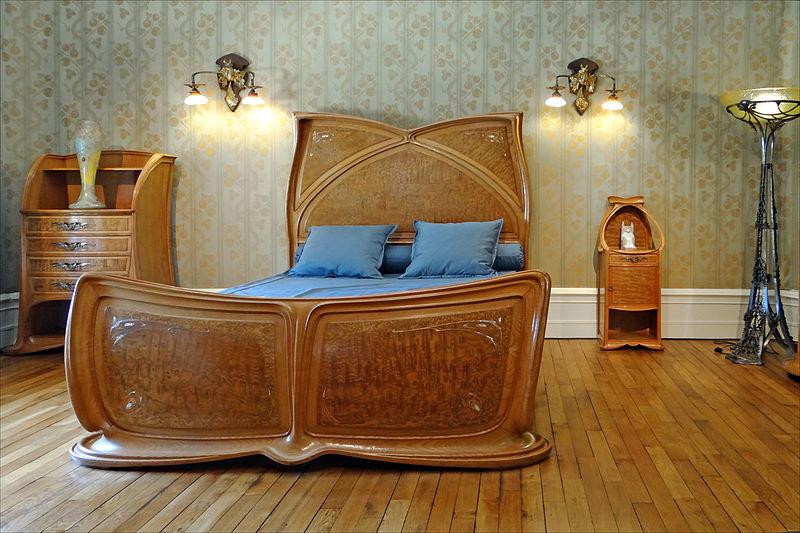 Decoration Simple Chambre Fille : Description Chambre à coucher art nouveau (Musée de lEcole de Nancy