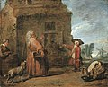 Chardin - Peasants by a hut in a landscape.jpg