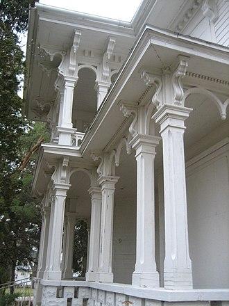 "Charles H. Hibbard House - The Charles H. Hibbard ""Cupola"" House in Marengo, Illinois."