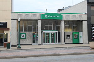 Citizens Financial Group - Charter One Bank branch, downtown Ypsilanti, Michigan