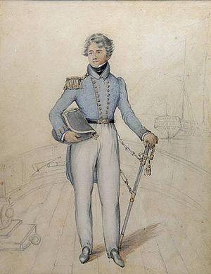 HMS Owen Glendower (1808) - Portrait of Cheesman Henry Binstead, 1826, from the Royal Naval Museum