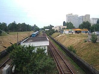 Chernihivska (Kiev Metro) - Westward view