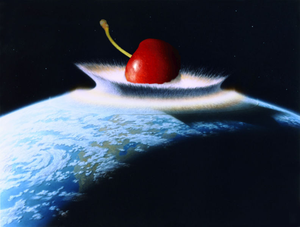 Cherry crashing into primordial Earth
