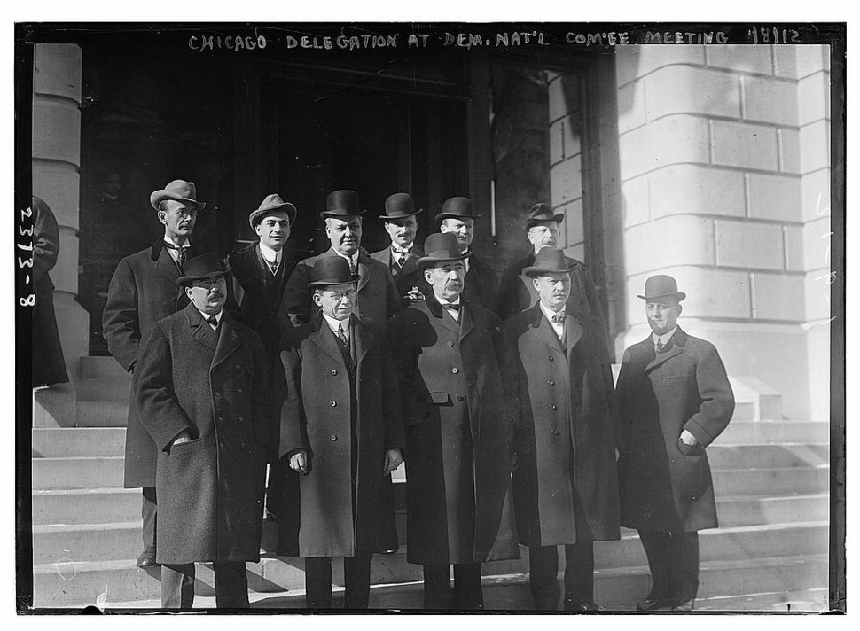 Chicago delegation to the January 8, 1912 meeting of the Democratic National Committee