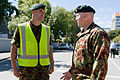 Chief of Defence Force talks with soldier at cordon - Flickr - NZ Defence Force.jpg
