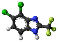 Chlorflurazole molecule ball.png