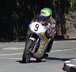 2010 Manx Grand Prix - Chris McGahan finished as runner-up in the Junior Classic on a Honda