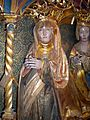 Christina of Denmark, Norway & Sweden (1497) & daughter-in-law Elizabeth sculpture c 1530.jpg