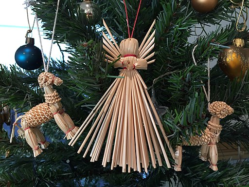 Polish Straw Christmas tree decorations