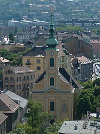 Church of Krisztinaváros from the Castle Hill.jpg
