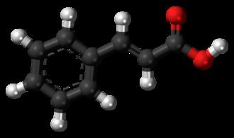 Cinnamic acid - Image: Cinnamic acid 3D ball