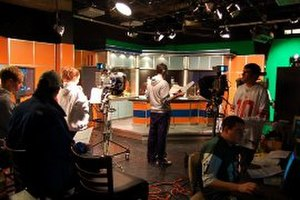 CitrusTV - The CitrusTV studio during a taping of a sports show during the fall 2008 semester.