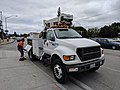 City of Campbell work truck with cherry picker, front view.jpg