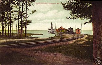 Baltimore, Chesapeake and Atlantic Railway - Image: Claiborne Wharf t
