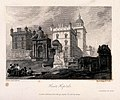 Classical ruins behind Heriot's Hospital. Line engraving by Wellcome V0012588.jpg