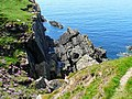 Cliff south of Port Logan - geograph.org.uk - 1725971.jpg