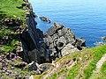 Cliff south of Port Logan - geograph.org.uk - 1725971.jpg