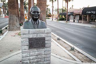 Cliff Henderson - Bust of Palm Desert, California, founder Clifford W. Henderson.