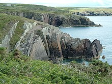 Cliffs at Porth Clais - geograph.org.uk - 479405.jpg