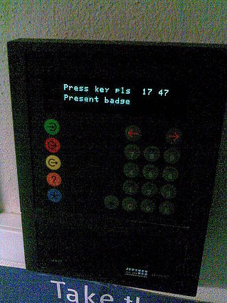 Time clock - Electronic time clock.