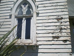 Wadsworth Chapel - Closeup of deterioration at Wadsworth Chapel, 2008