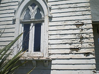 Wadsworth Chapel - Closeup of deterioration at Wadsworth Chapel, 2008